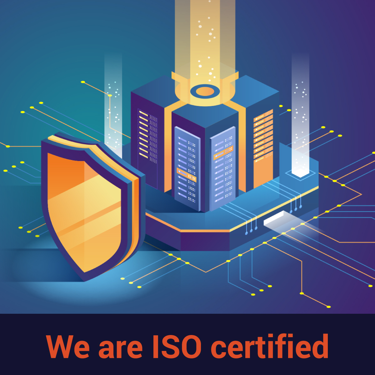 We are ISO certified